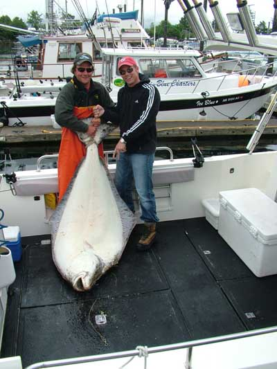 Reed over 200 pounds of halibut