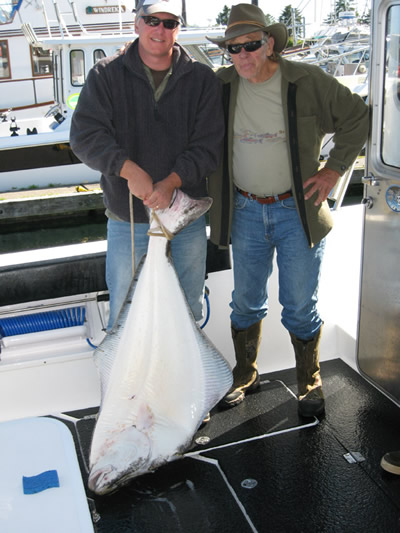 Doug and Dad Morrie Granger . . .we liked this fish!
