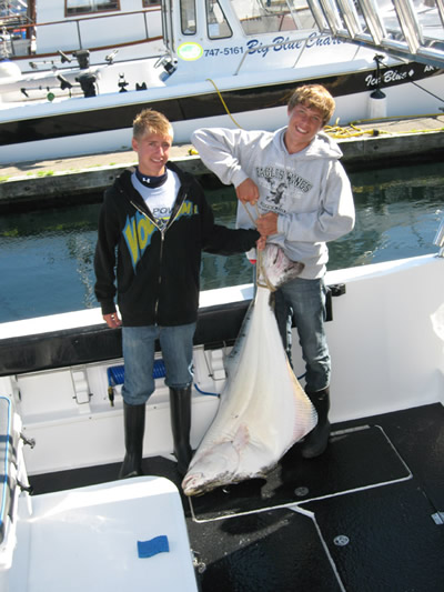 Steve and cousin Luke. . they helped Dad Doug catch this big boy!