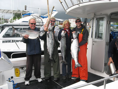 The Fawcetts along with Matt and Doug Thoma our Seattle Boat Show winners!