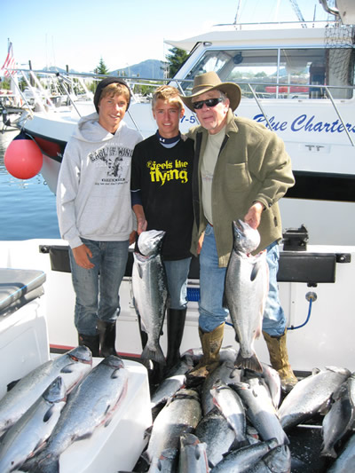 What a load of fish . . . Steve, Luke and Morrie