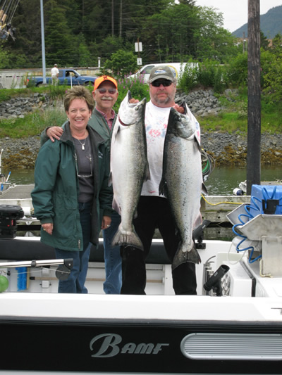 Bonnie and Ken Benad with 2 HUGE Kings