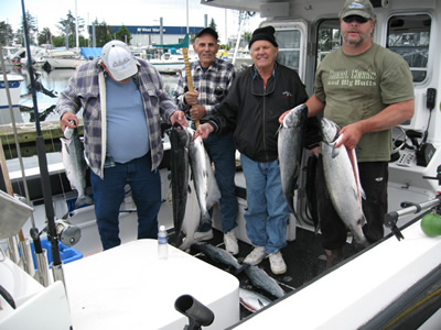 Royce, Rita and Casey - Alaska Fishing