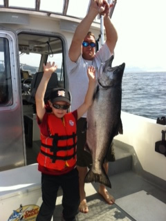 Captain Ben fishing Alaska on Father's Day