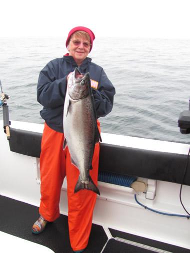 Salmon Fishing with Big Blue Charters, Sitka, Alaska