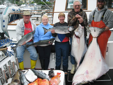 Sitka, Alaska Salmon and Halibut fishing with Big Blue Charters