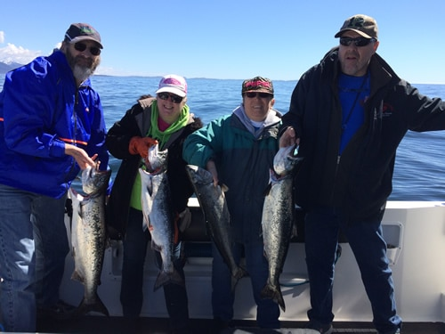May 15 Big Blue Charters Alaska Salmon Fishing